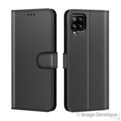 Étui à Rabat Similicuir pour Samsung Galaxy A42 - Noir (En Vrac)