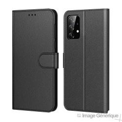 Étui à Rabat Similicuir pour Samsung Galaxy A52 4G / 5G - Noir (En Vrac)