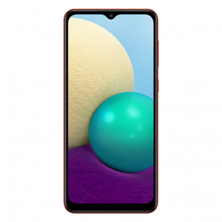 Samsung A022G/DS Galaxy A02 (6.5'' - Double Sim - 32 Go, 3 Go RAM) Rouge (Version non Européenne*)