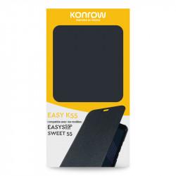 FlipCover Pour Konrow Easy K55 (Compatible Easy S55P 2021 et Sweet55)