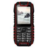 Konrow Stone - Téléphone Antichoc - 2.4'' - Double Sim - Noir / Rouge