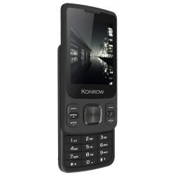 Konrow Slider - Téléphone Coulissant - Ecran 2.4'' - Double Sim - Noir